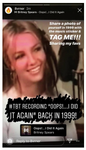Britney Spears, Facebook, TBT, Syntax Creative - image
