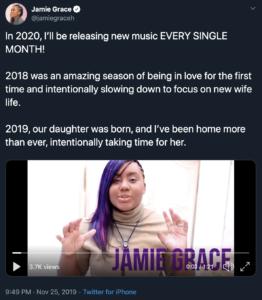 Jamie Grace, Twitter, Christian music, CCM, Syntax Creative - image