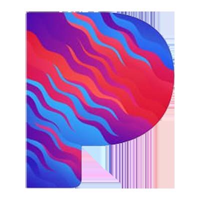 Pandora, digital music, streaming, logo, Syntax Creative - image
